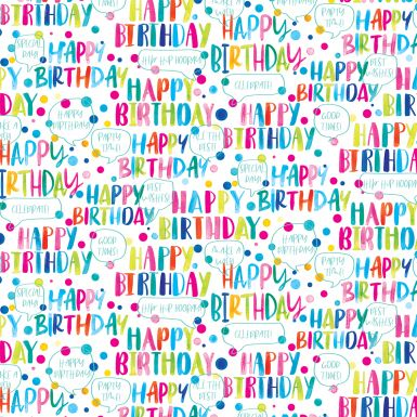 Gift Wrap Happy Birthday