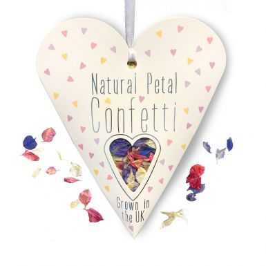 Natural Petal (UK Grown) Heart Pack Confetti