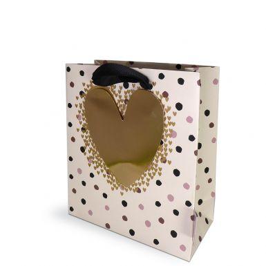 Gift Bag Sall Hearts dots