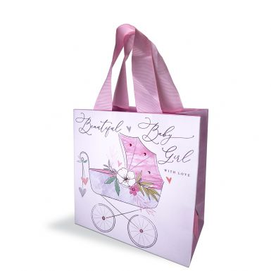 Gift Bag Small Katie Phythian Pram Pink