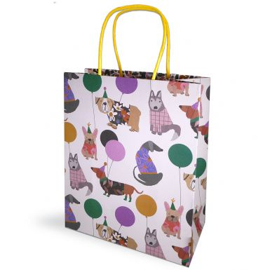 Gift Bag Medium Stop the Clock Dogs Spots