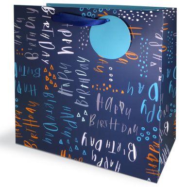 Gift Bag Large Pluto Birthday Blue