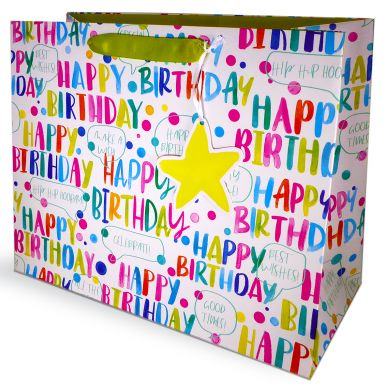 Gift Bag Carrier Happy Birthday