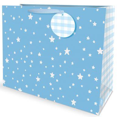 Gift Bag Carrier Stars Bue