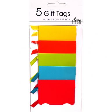 Pack of 5 Tags - Brights