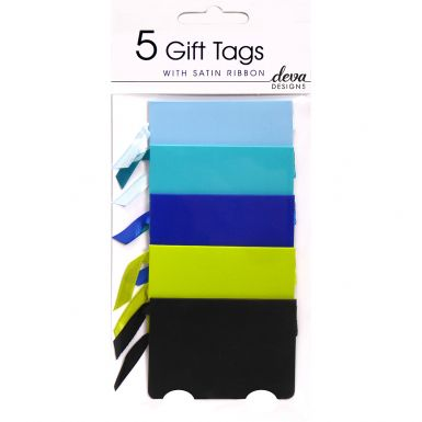 Pack of 5 Tags - Blues