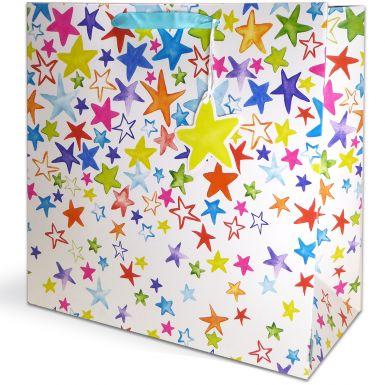 Gift Bag Jumbo Painted Stars
