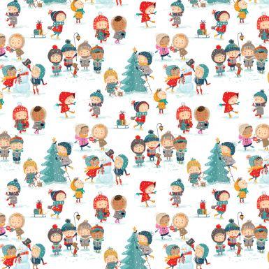 Gift Wrap Snow Day