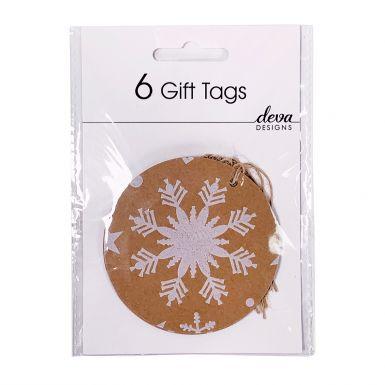6 Tag Pack Snowflake Craft