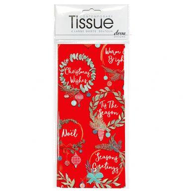 Tissue Red Wreaths