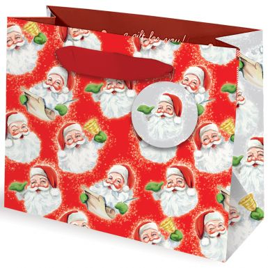 Gift Bag Vintage Santa