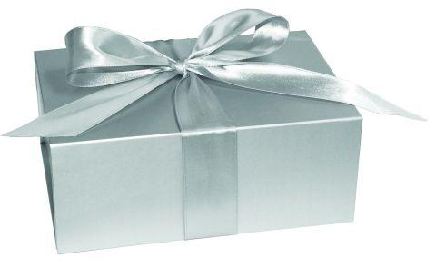 Metallic Silver XLarge Folding Box