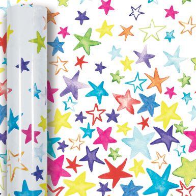 3M x 70CM Roll Wrap Painted Stars