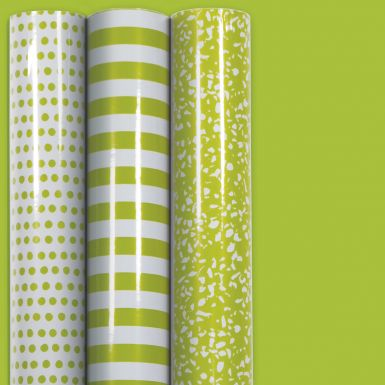 3M x 70CM Roll Wrap Trio Lime