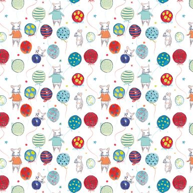 Gift Wrap Katie Phythian Party Mice