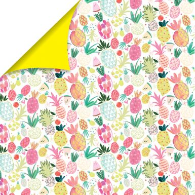Gift Wrap Katie Phythian Pineapple
