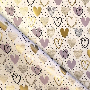 Gift Wrap Hearts Foil