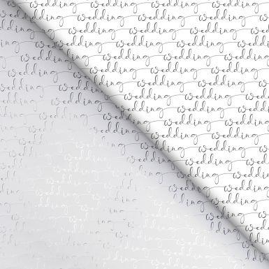 Gift Wrap Wedding Script Foil