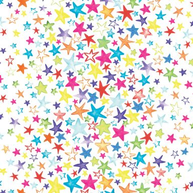 Gift Wrap Painted Stars