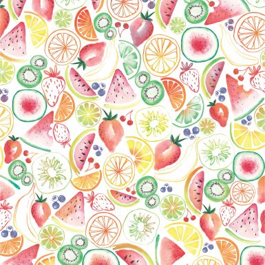 Gift Wrap Summer Fruits