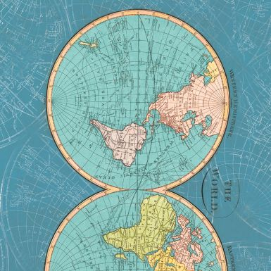Gift Wrap The World Map