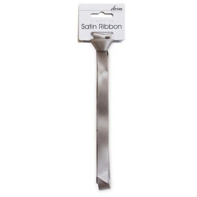 Satin Ribbon (Essential) -  Silver