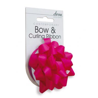 Bow & Curling (Essential) -  Bright Fuchsia