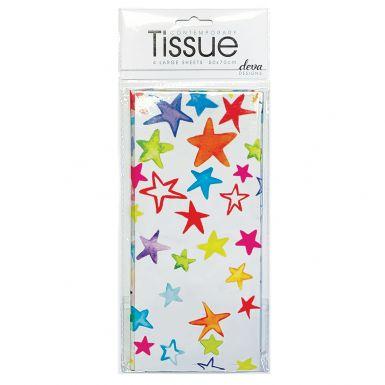 Tissue Painted Stars
