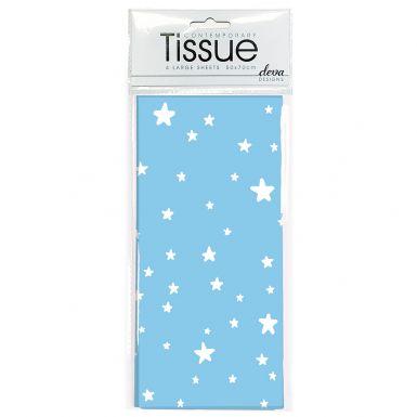 Tissue Blue Stars