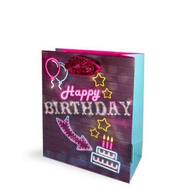 Gift Bags Small Neon Lights Birthday
