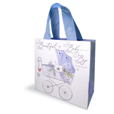 Gift Bag Small Katie Phythian Pram Blue
