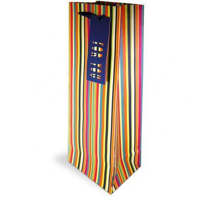 Gift Bag Bottle Stripes