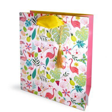 Gift Bag Medium Katie Phythian Flamingo