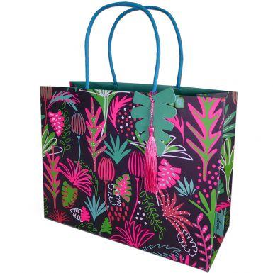 Gift Bag Medium Neon Tropical