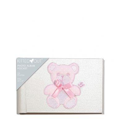 Teddy Pink (Pocket) Photo Album