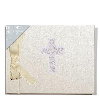 Christening Day Cross (Loose Leaf) Memories Book
