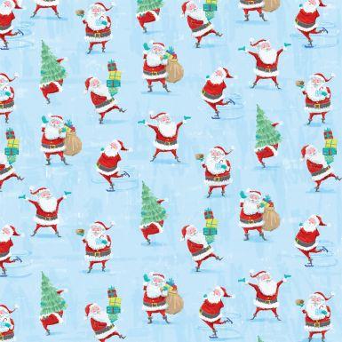 Gift Wrap Ditsy Santa