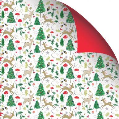 Gift Wrap Katie Phythian Woodland Deer