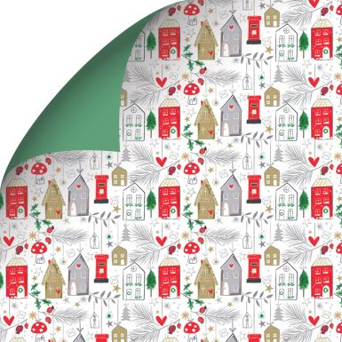 Gift Wrap Katie Phythian Winter Houses