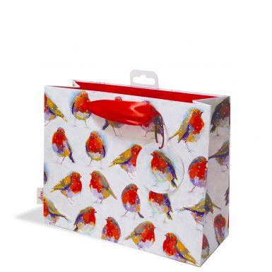Gift Bag Medium Winters Day Robins