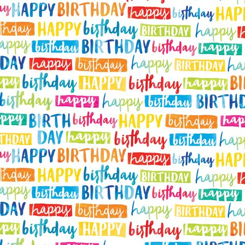 Gift Wrap Painted Birthday