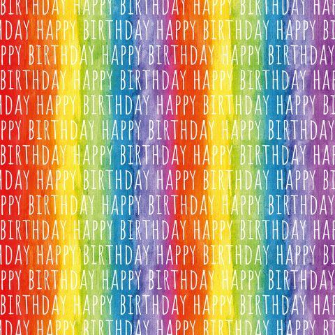 Gift Wrap Rainbow Birthday
