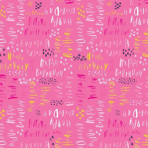 Gift Wrap Pluto Birthday Pink