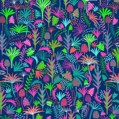 Gift Wrap Neon Tropical