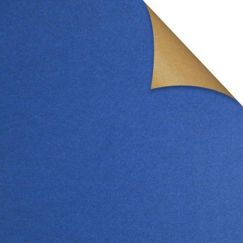 Gift Wrap Kraft Blue