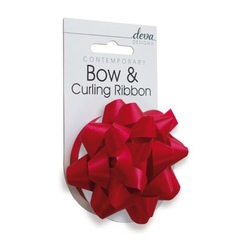 Bow & Curling (Essential) -  Scarlet Red
