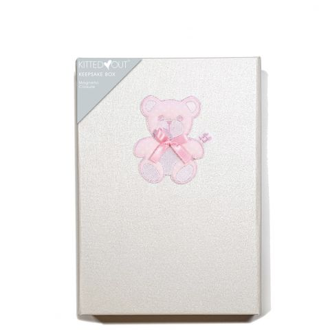 Teddy Pink (Medium) Keepsake Box