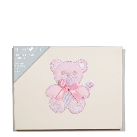 Teddy Pink (Double) Photo Frame