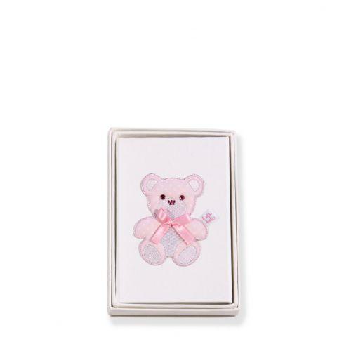 Teddy Pink (Oval) Photo Frame